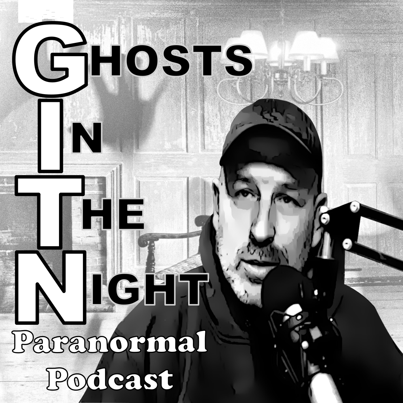 Ghosts In The Night:  Hauntings and Paranormal Podcast show art