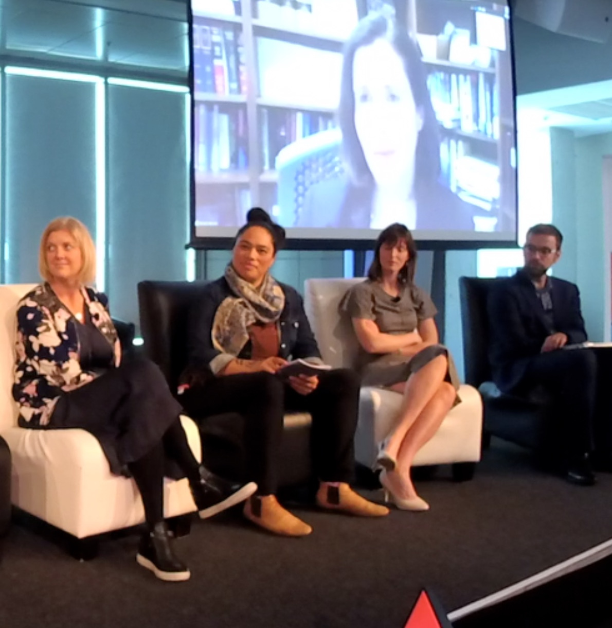 Artwork for Impact and Social Enterprise, a live panel discussion at Te Papa moderated by Steven Moe with Louise Aitken, Dana Brakman Reiser, Holly Norton, Kaye Maree Dunn and Andrew Phillips