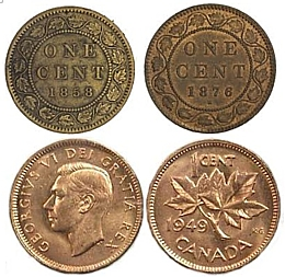 161-141023 In the Treasure Corner - Canadian Pennies