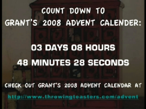 DWE Video/Picture Request for Grant's 2008 Advent Calendar Promo