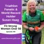 Artwork for Triathlon Fanatic and World Record Holder Susan Haag