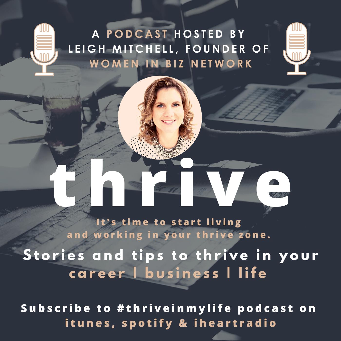 Thrive podcast #Thriveinmylife show art
