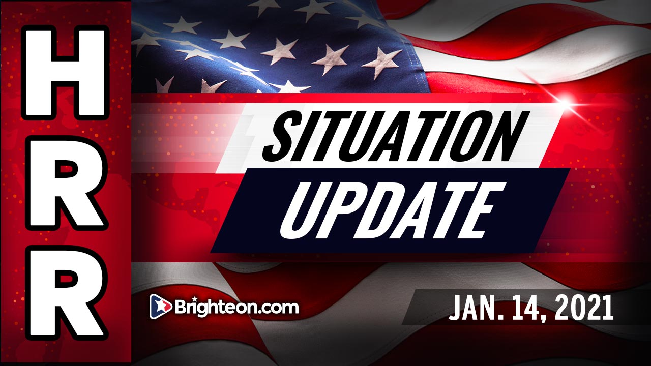 Situation Update, Jan 14th, 2021 - The FEMA + Military coup to SAVE America, not destroy it