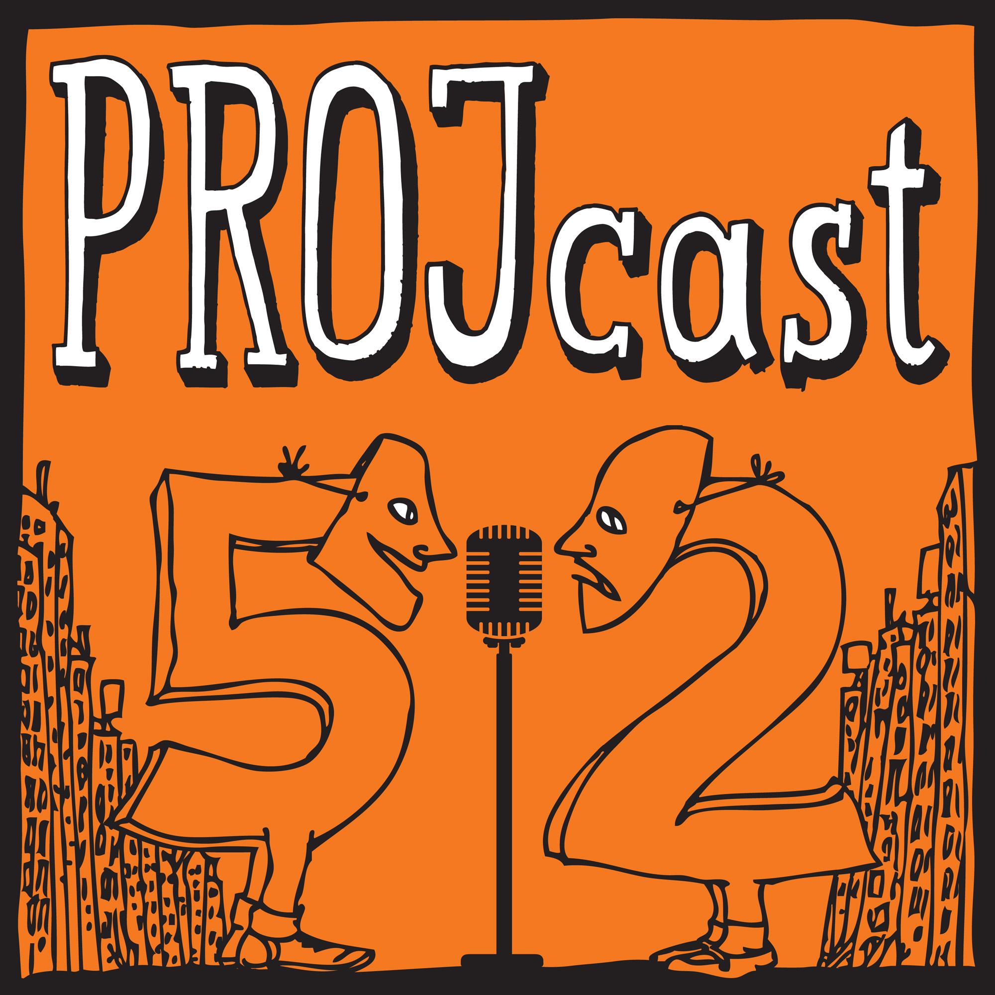 The PROJcast show art
