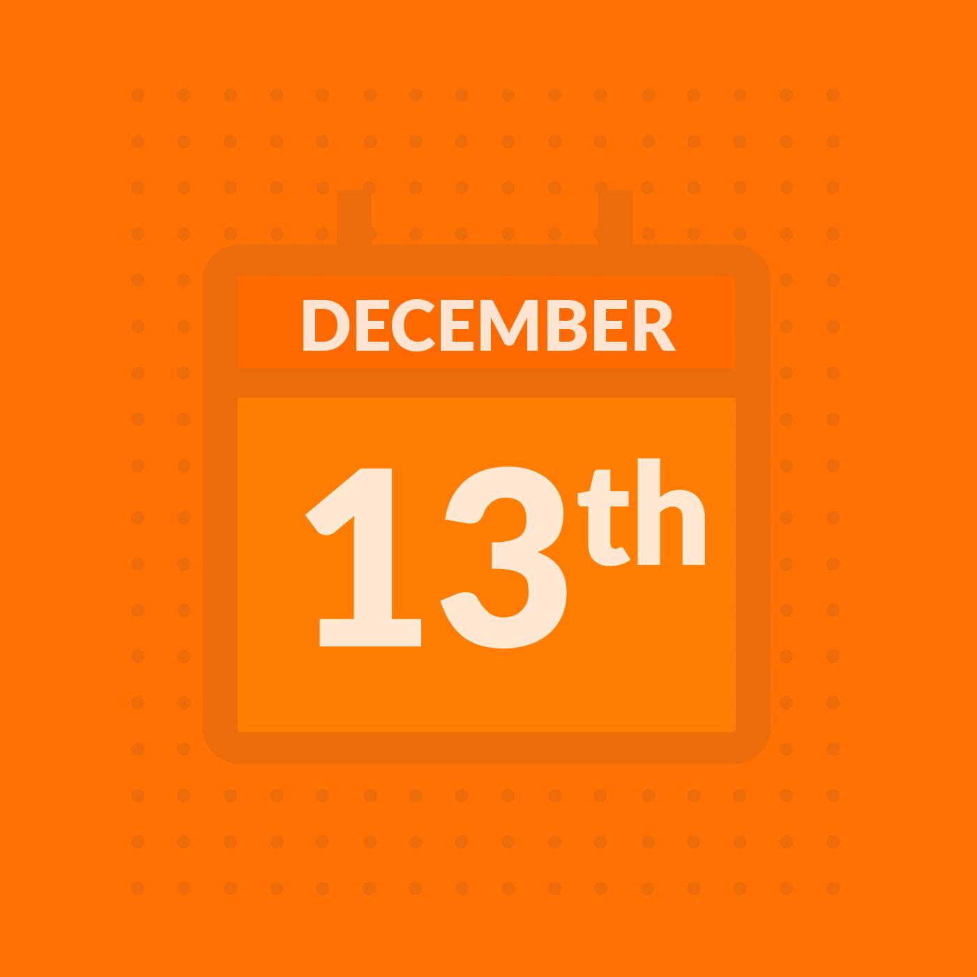 Week of December 13, 2019