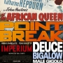 Artwork for Week 33: (Point Break (2015), The African Queen (1951), Imperium (2016), Deuce Bigalow: Male Gigolo (1999))