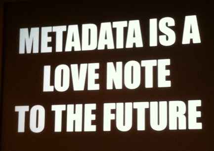 metadata is a love note