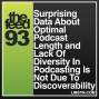 Artwork for 093 Surprising Data About Optimal Podcast Length and Lack Of Diversity In Podcasting Is Not Due To Discoverability