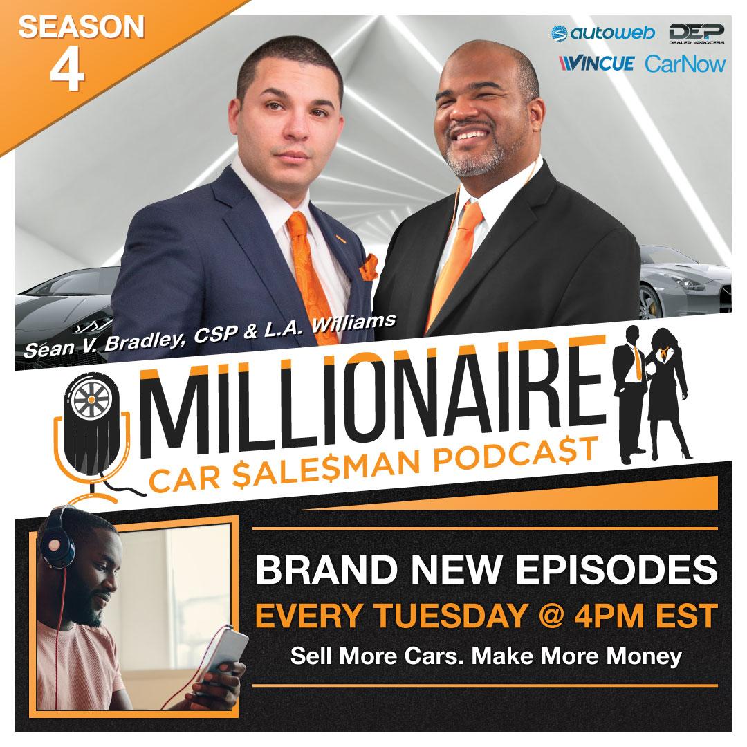 Millionaire Car Salesman Podcast show art
