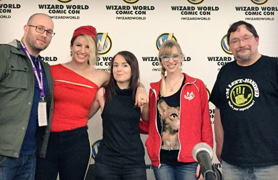 Panel at Wizard World St. Louis 2016 with Rachael Stott, Rick Burchett, Ellie Ann, and Carol Mertz
