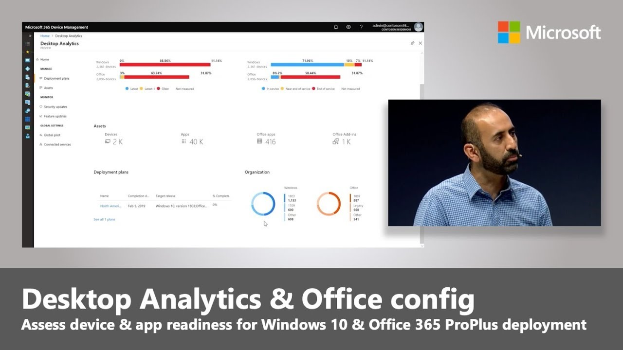 Artwork for Desktop Analytics for Windows 10 and Office 365 ProPlus | Best of Microsoft Ignite