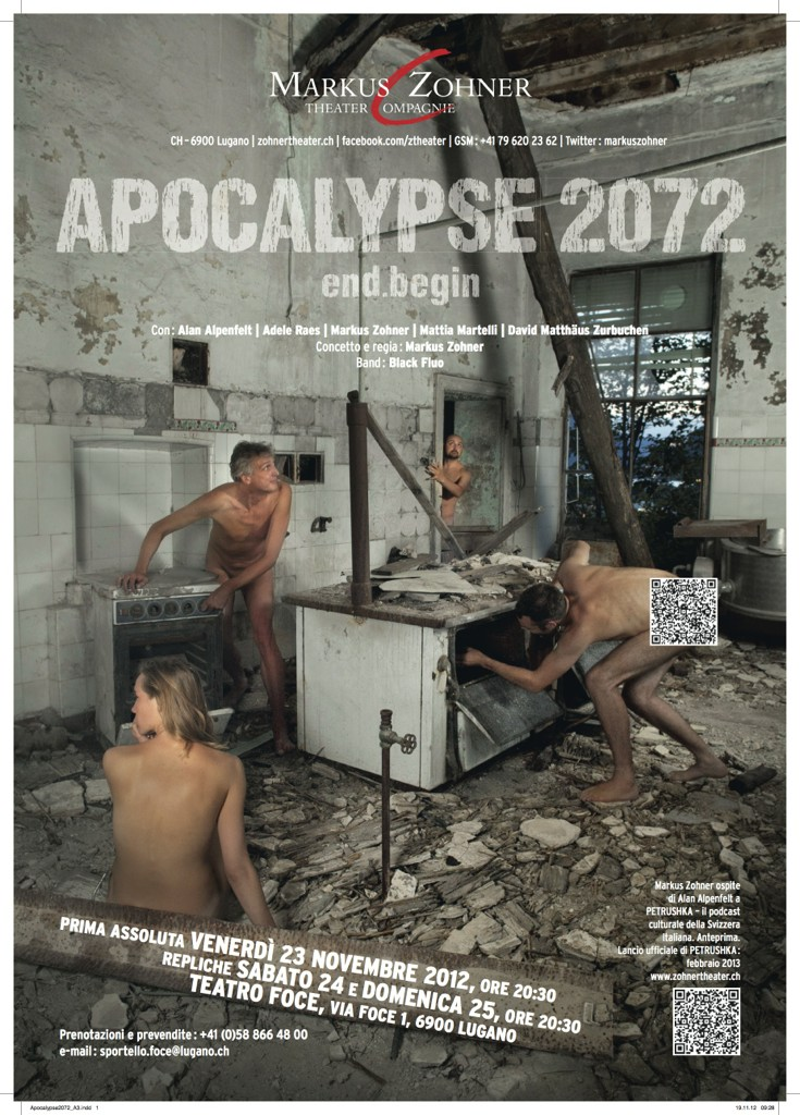 Con Alan Alpenfelt e Markus Zohner, Apocalypse 2072 | end.begin | The sense of life