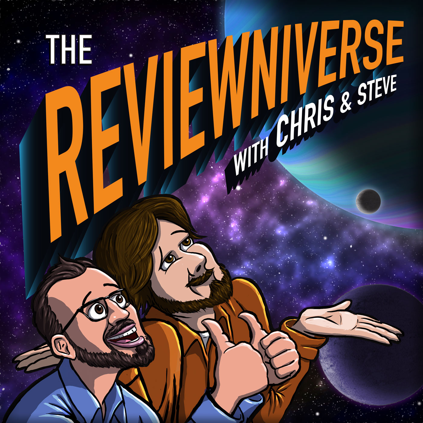 The Reviewniverse with Chris and Steve show art
