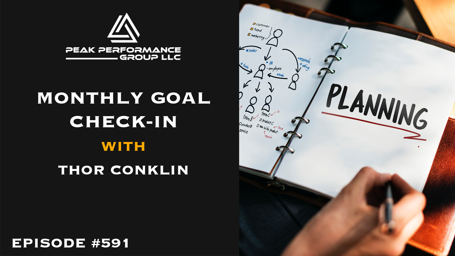 Artwork for Monthly Goal Check-In | Thor Conklin | Episode #591