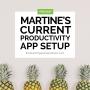 Artwork for Martine's Current Productivity App Seup