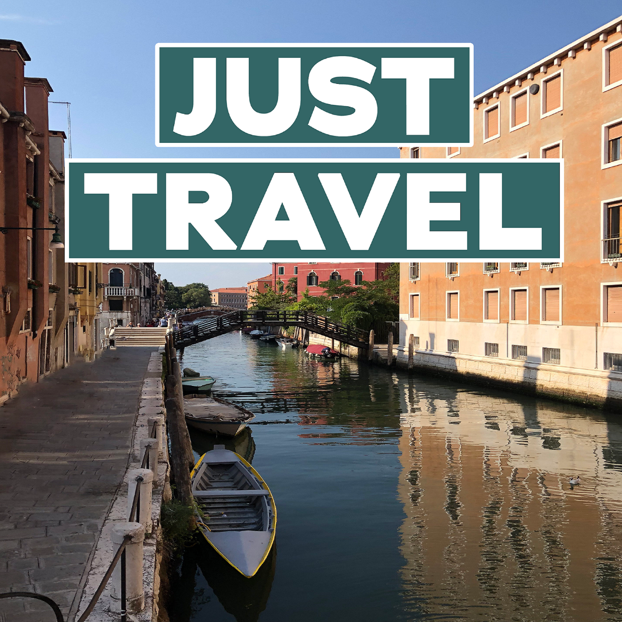 Just Travel Podcast show art
