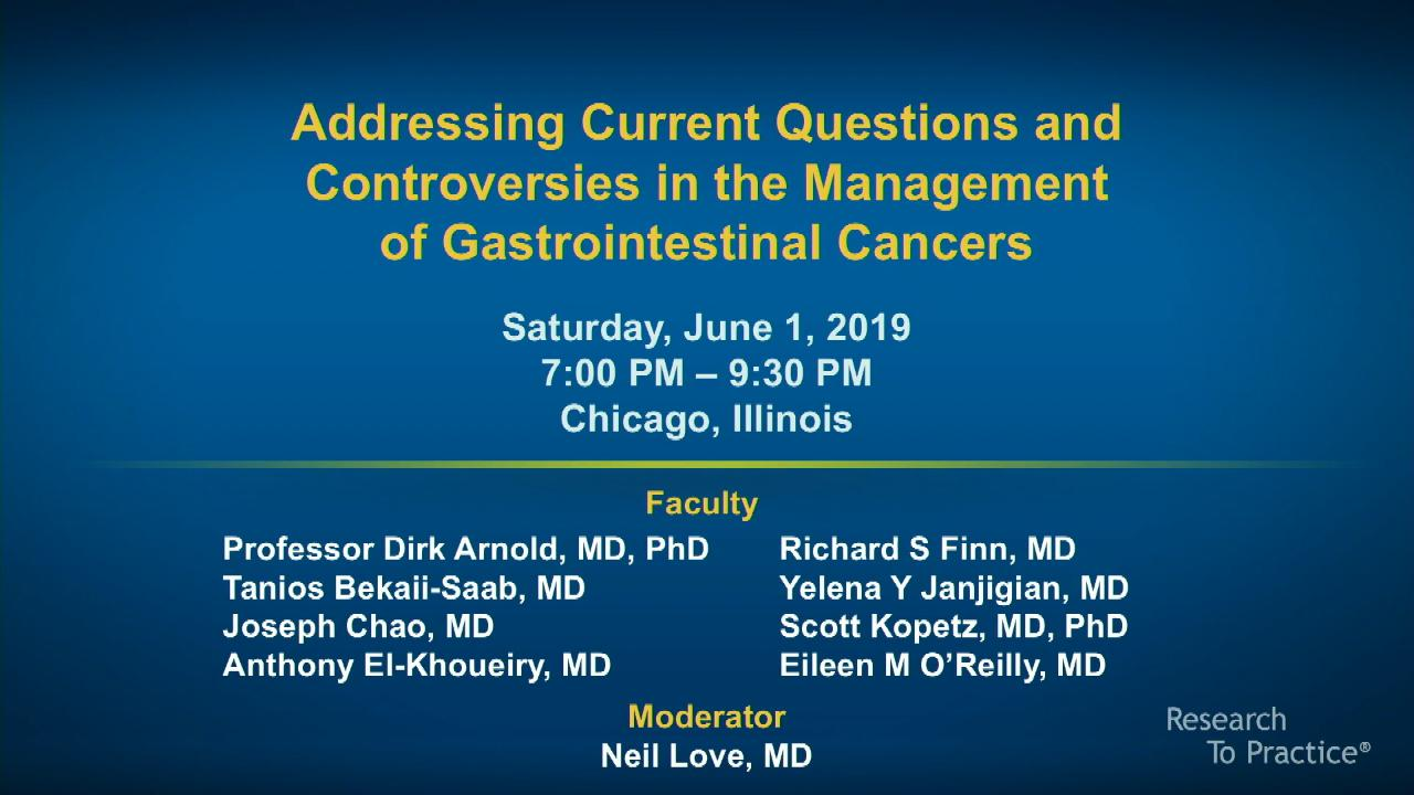 Artwork for Gastrointestinal Cancers | Addressing Current Questions and Controversies in the Management of Gastrointestinal Cancers