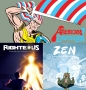 Artwork for Webcomics: Reviews of Righteous, Zen and the Ephemeral, and American Barbarian