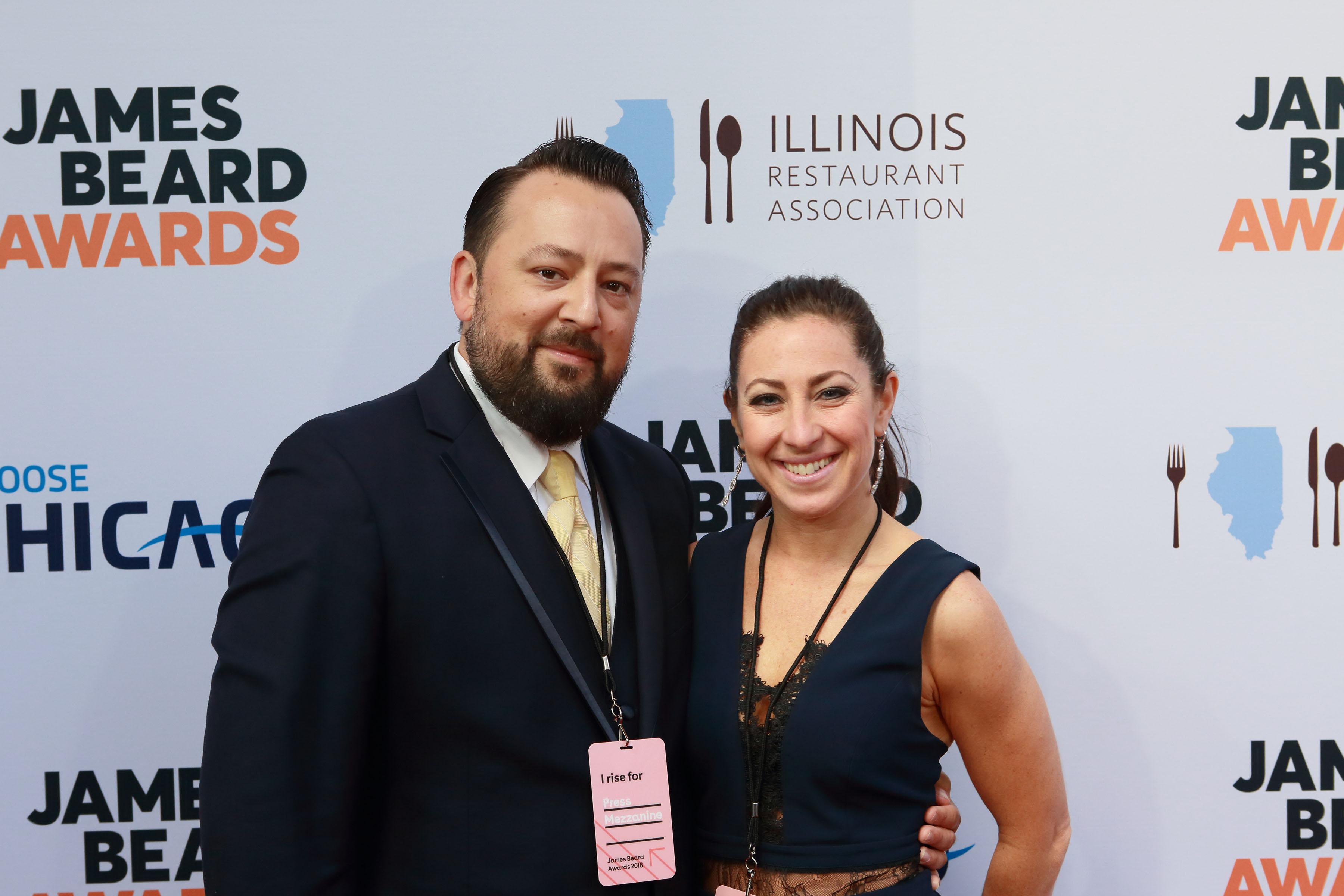 Felicia and Max Trujillo at the James Beard Awards