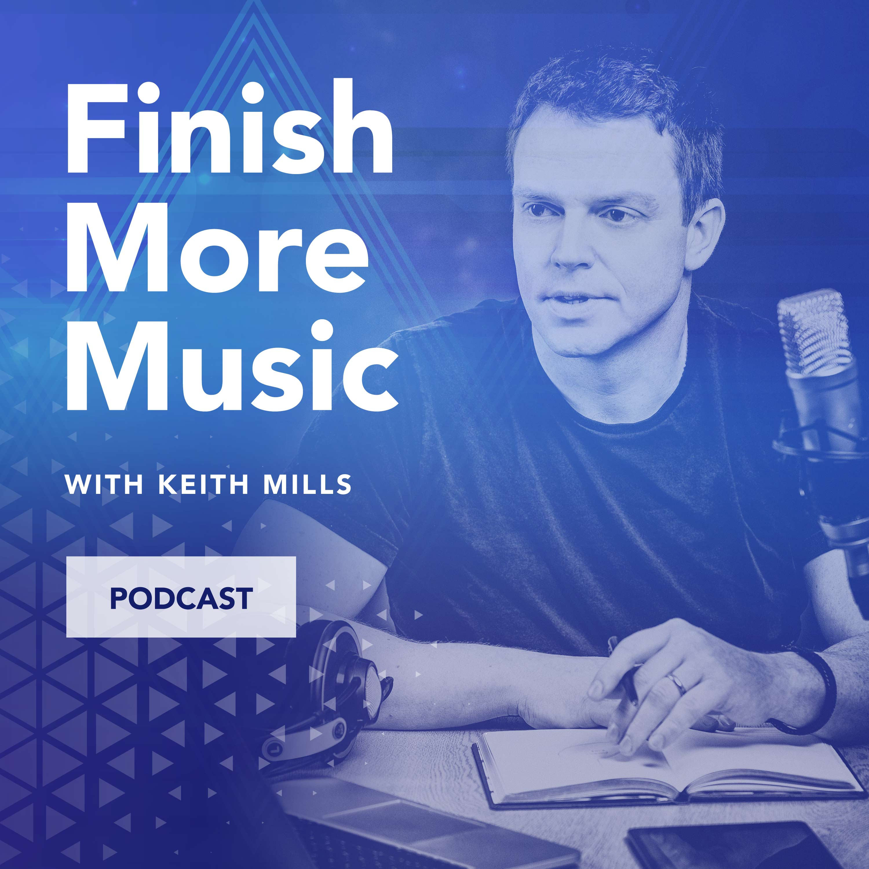 The Finish More Music Podcast show art