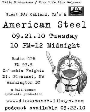 9-21-10 Punk Life Zine presents: American Steel